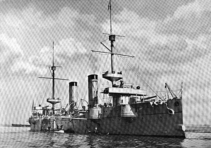 Scan of Japanese cruiser Kasagi