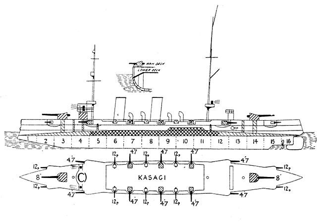 Kasagi left elevation plan