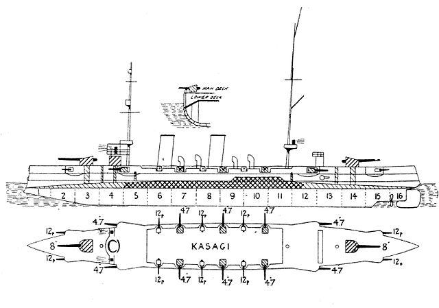 Kasagi left elevation plan