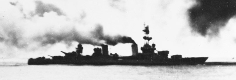 USS salt Lake City at the battle of Komandorski islands 26 march 1943