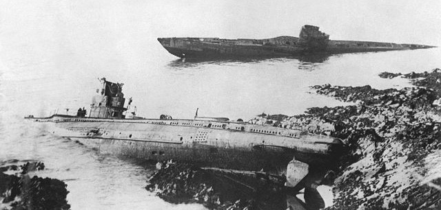 UB-86 grounded at Falmouth with another submarine in 1921