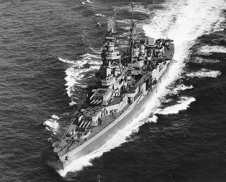USS Augusta off Portland Maine 9 May 1945