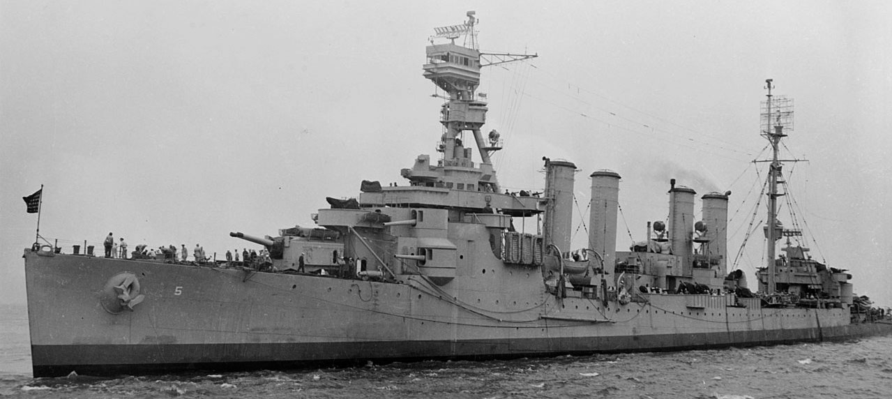 USS Milwaukee August 1944