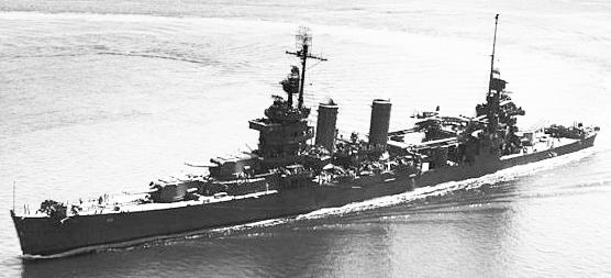 USS New Orleans underway Puget Sound 30 July 1943