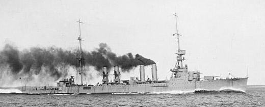USS Richmond on trials in 1923