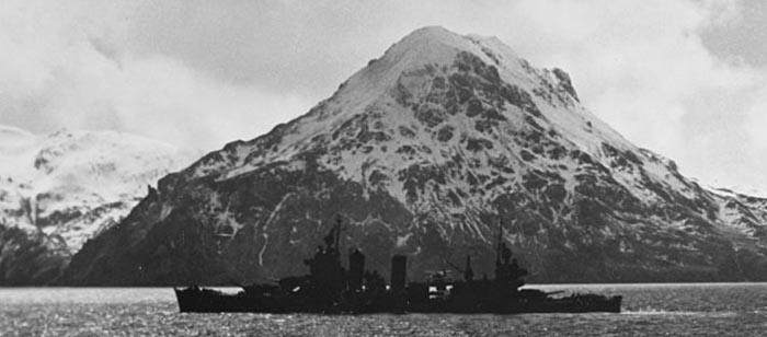 USS San Francisco Kuluk Bay Adak Island April 1943