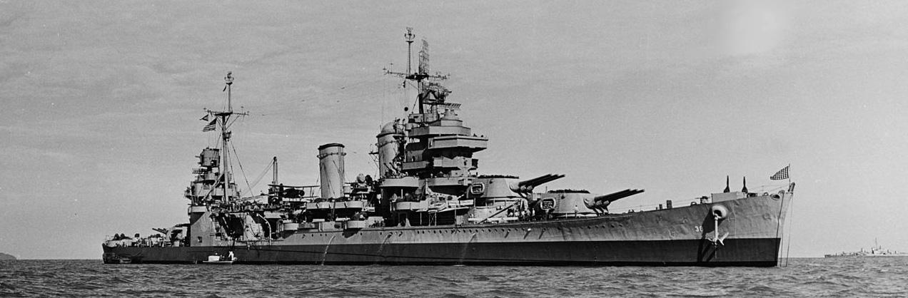 USS San Francisco_off the Korean coast 28 September 1945