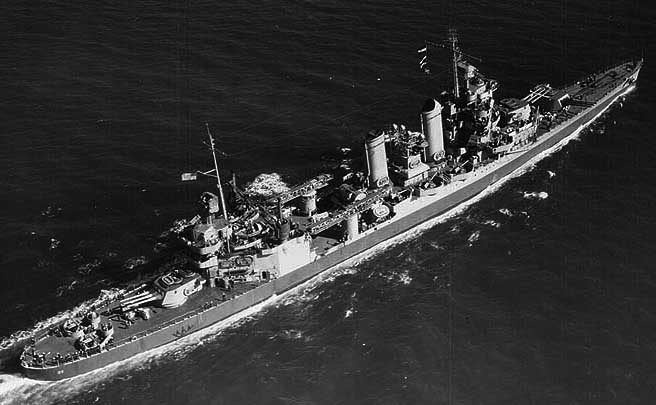 USS Tuscaloosa October 1942