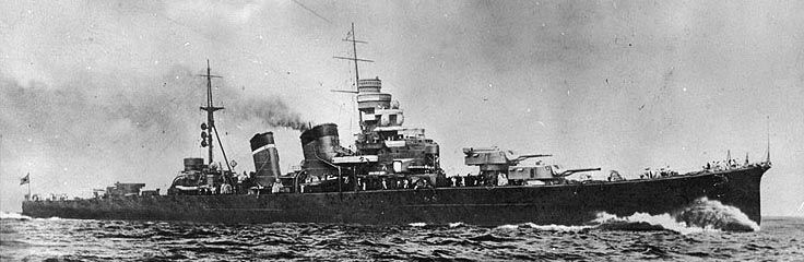 Cruiser Aoba in the 1930s