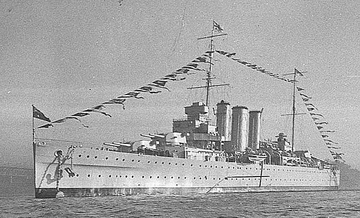 HMAS Camberra at Sydney in 1936