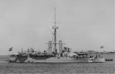 Danish Ironclad Tordenskjold, from the 1880, deactivated in 1908.