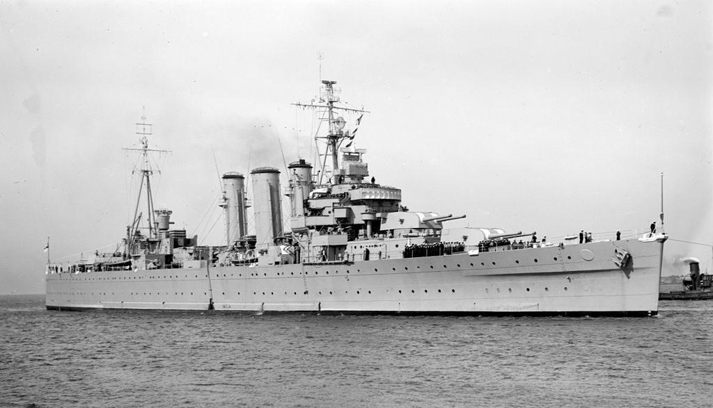 HMAS Australia in 1953