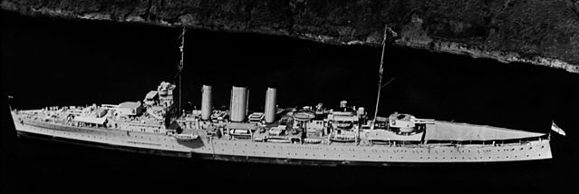 HMS Australia through the Panama Canal in March 1935