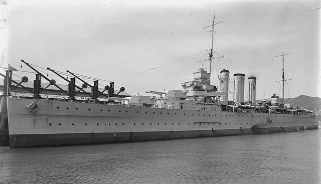 HMAS Camberra at King's warf in Australia before the war