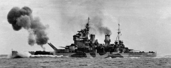 HMS_Anson_firing_guns_in_North_Sea_c1942