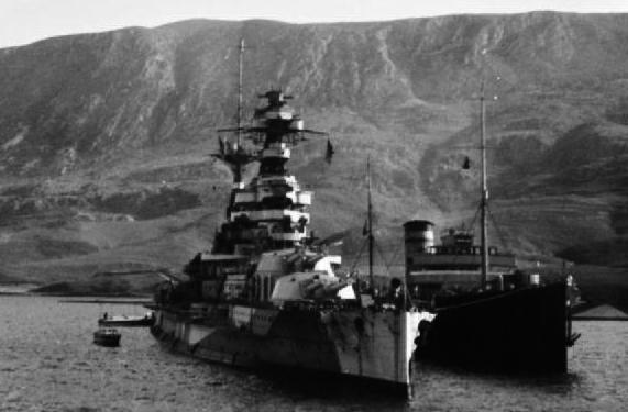 HMS Barham in Suday Bay 1941