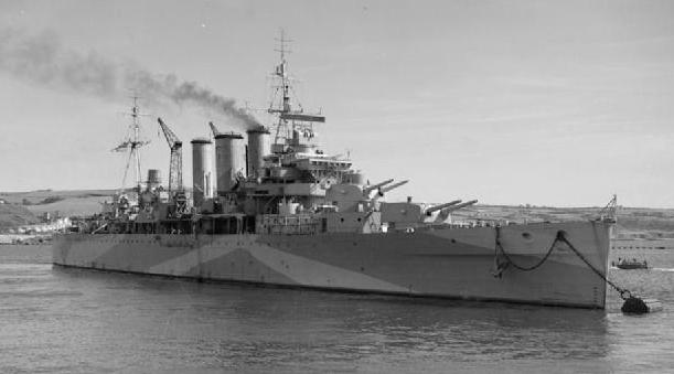 HMS Berwick in 1944