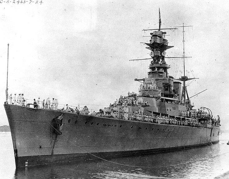 prow of HMS Hood