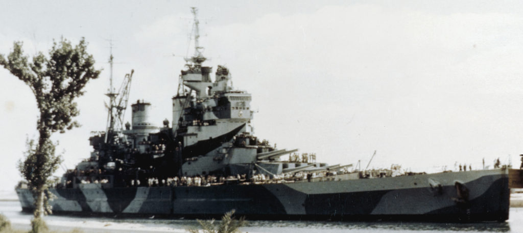 HMS Howe through the Suez Canal to join the far eastern squadron in 1944