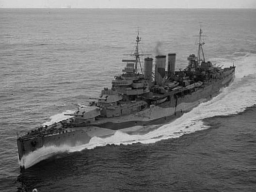 HMS Kent in 1944