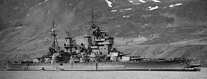 HMS King Georges V after her ramming of an U-boat