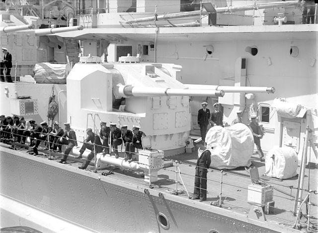 KGV secondary artillery