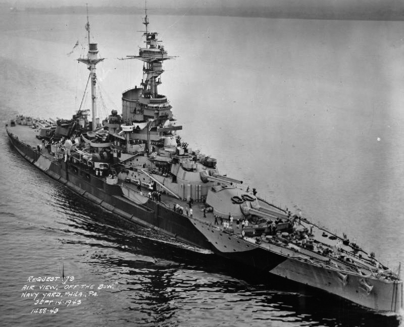 HMS Royal Sovereign at Philadelphia in 1943