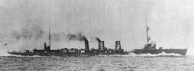IJN Tenryu in 1919 under trials