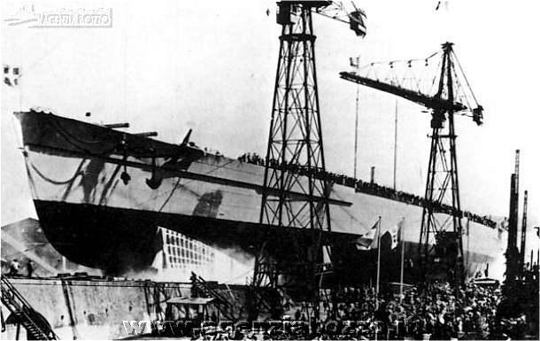 Launch of the Caracciolo in October 1920
