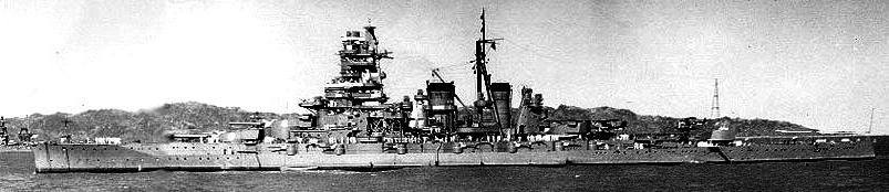 IJN Kirishima off Amoy, China, 1938