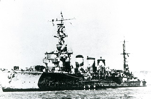 Japanese cruiser Tama in 1942 camoufaged