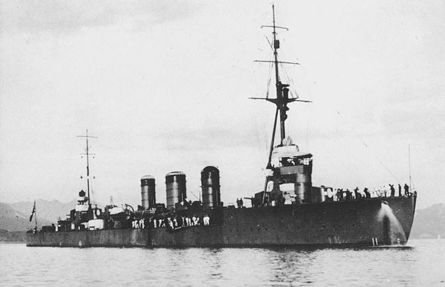 Japanese cruiser Tenryu in 1930