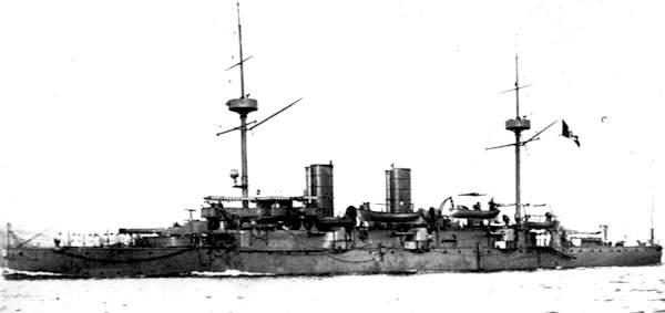 The cruiser Piemonte in the 1890s