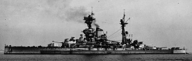 HMS ramilies in 1945