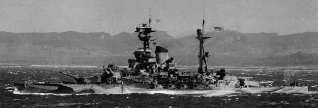 HMS Ramilies in Operation Ironclad, the allied invasion of Madagascar in 1942