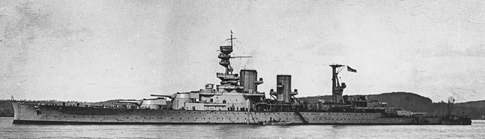 HMS Repulse in 1917