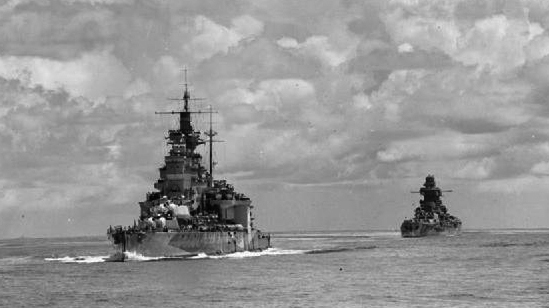 HMS Valiant and Richelieu in the far east 1944