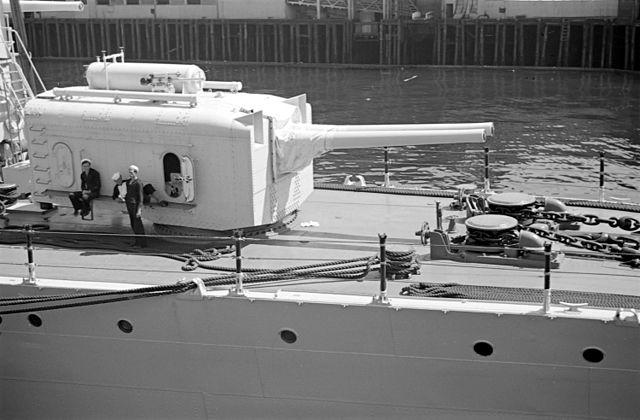 USS Cincinatti 6 in guns