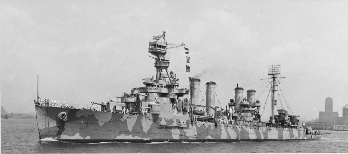 USS Cincinatti off NY 8 july 1944
