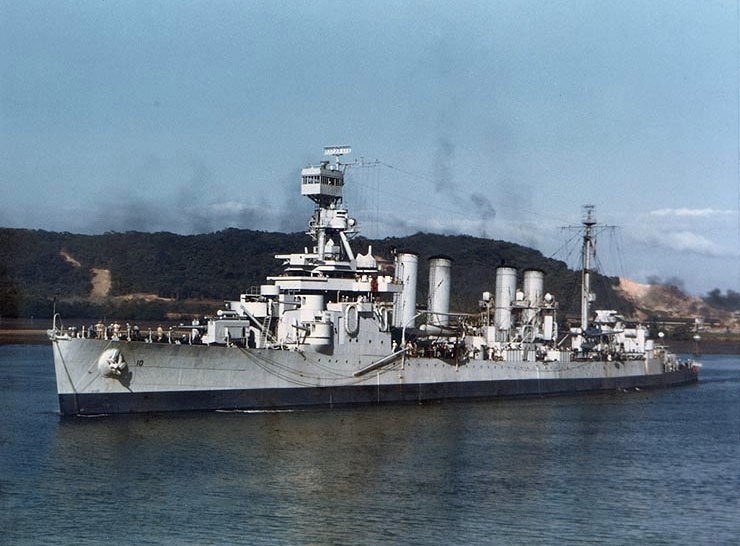 USS concord off Balboa, Panama, 1943