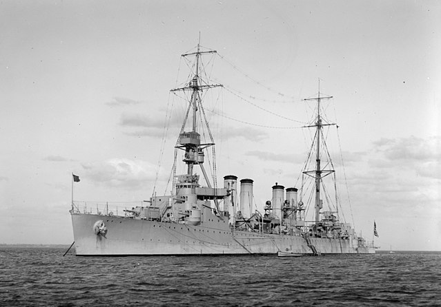 USS Memphis in Australian waters in its early appareance, 1925.
