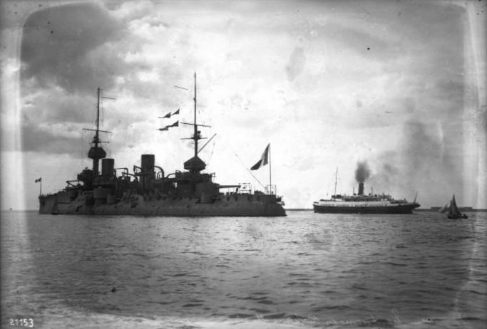 Battleship bouvet in Toulon