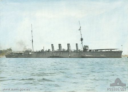 Colored photo of the Brisbane (Imperial War Museum)