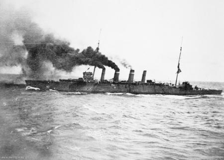 Sydney near Rabaul in 1914