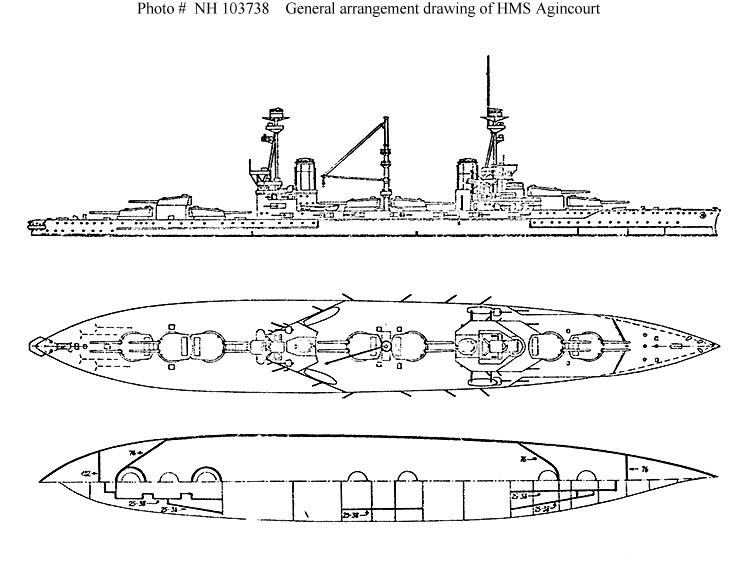 HMS_Agincourt_Schematics