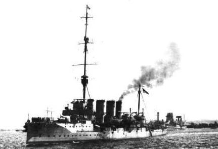 HMS Bristol in 1910