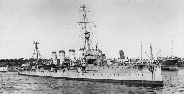 HMS Gloucester 1909