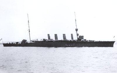 HMS Nottingham in 1914