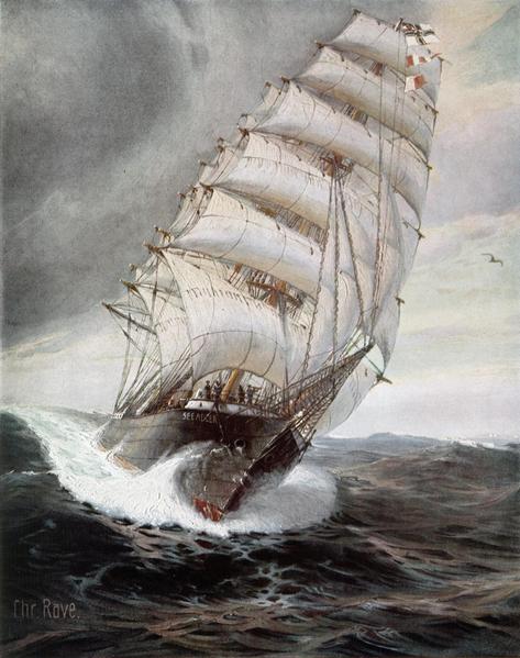 Seeadler bow, in heavy seas, 1916