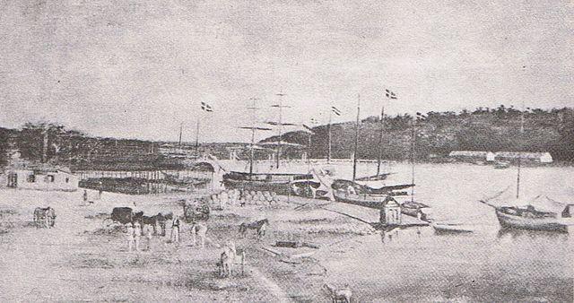 Schooners in San Domingo, Dominican Republic, 1850